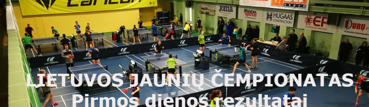 Lietuvos Jaunių čempionatas Pirmos dienos rezultatai