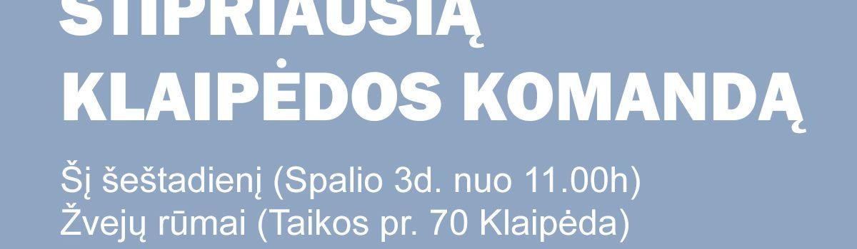Vyrų Aukščiausios lygos 1 turas Klaipėdoje
